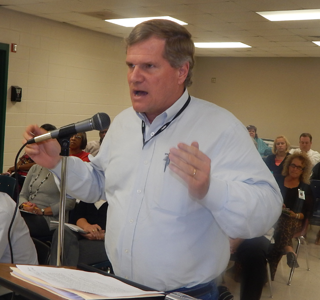 John Deans told the school board that gun free zones are 'killing zones.'