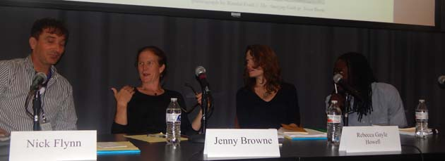 UG Poet Nick Flynn with other poets Jennifer Brown, Rebecca Howell and Roger Reeves