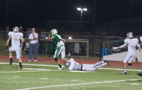 James Homan fights his way into the end zone. (Courtesy: Yvonne Tomlinson)