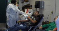 Students donate blood at last years ICT Thanksgiving Blood Drive.