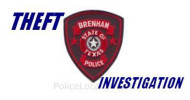 brenham police department logo THEFT
