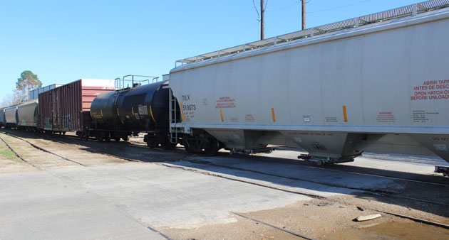 A minor derailment has closed Jackson St. in Brenham.