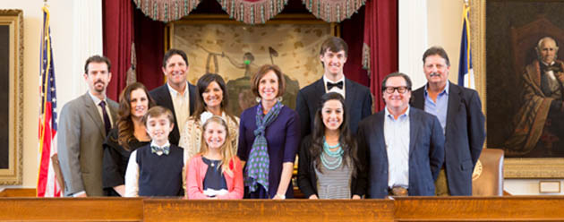 State Rep. Lois Kolkhorst honored the Junior Royalty Jackson Van Dyke, and Junior Queen Piper Puckett, along with the Senior King Caleb Rodenbeck and Senior Queen Caroline Webb Monday at the State Capitol.