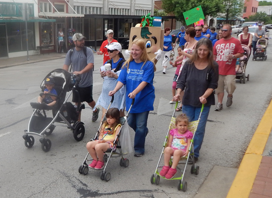 All ages turned out for Saturday's walk.