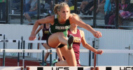 Gretchen West was second in the 100M Hurdles.