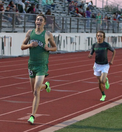 Jacob Deramu and Matthew Spahn finished 1-2 in both the 3200 and 1600.