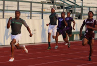 Wilson completed the sprint sweep as he pulled away for the win in the 200M.