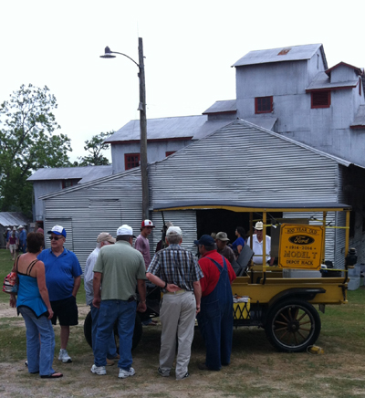 An antique tractor show is always a big part of the festival.