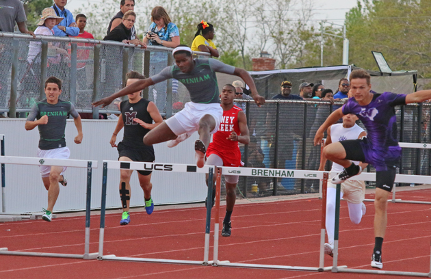 Tre'Vonte Johnson finished third in the 300 Hurdles.
