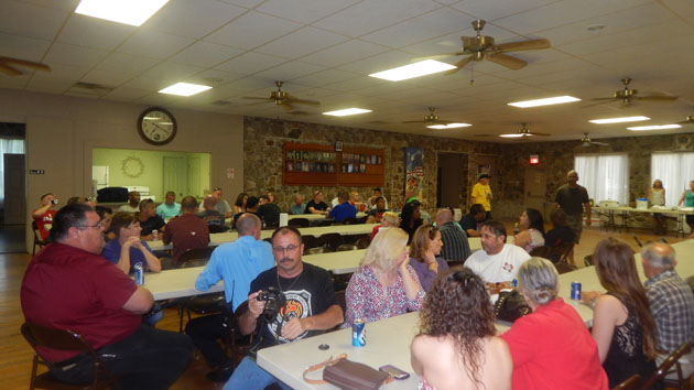 About 100 law enforcement officers from the region came to a dinner at the American Legion Hall Wednesday night before the torch run.