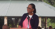 Retired Air Force Master Sgt. Angela Renee Dickson told the Memorial Day gathering that there were many ways to serve.