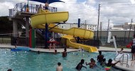 Aquatic center feature