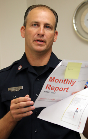 Washington County EMS Director Kevin Deramus reports a busy year in his annual report.