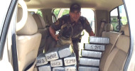Fayette County Sheriff's Deputy Randy Thumann and the drug dog Lobos found 160 pounds of marijuana during a Friday afternoon traffic stop.
