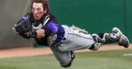 Seth Spivey makes a spectacular diving catch for the Wildcats.