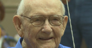 Family and friends sang a hundred rounds of Happy Birthday to Melvin Kelm on Sunday. photo KBTX,
