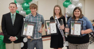 GOLD STAR AWARD WINNERS: Forrest Kohring, Heather Ruemke and Chesley Rudasil