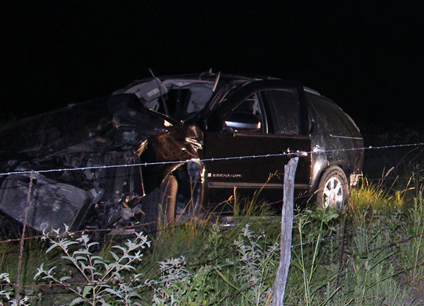 Two people were killed in a one-vehicle wreck Sunday night.