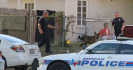 Brenham Police use their drug-sniffing dog during Friday's warrant service