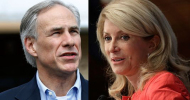 Governor Candidates: (l) Greg Abbott (r) Wendy Davis