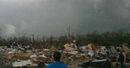 A tornado devastated a small town in Arkansas