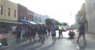 Washington County Sheriff Otto Hanak carried the Special Olympics Torch Run through Brenham.