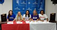 (L-R) Rebecca Reeve, Alyssa LaMont, Trinity Alualu, Rachel Sharp & Jaeda Allen