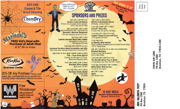 Kwhi Halloween Party Cards Going Out To Students Kwhi Com