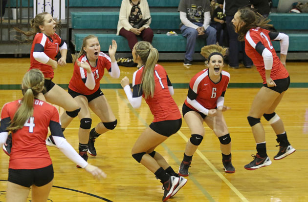 Burton Volleyball win