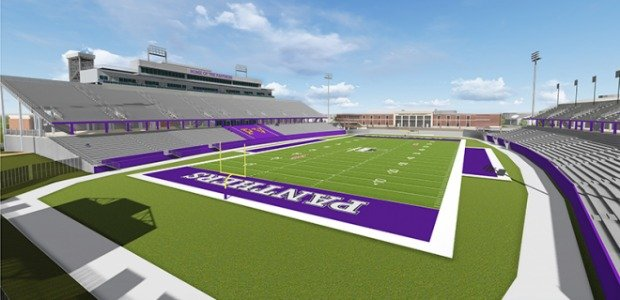 Engineers' rendering of the new Panther Stadium.