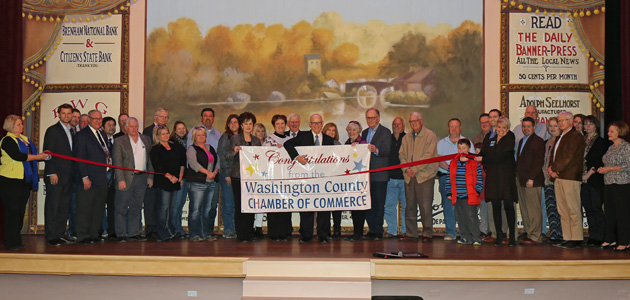 Simon ribbon cutting feature