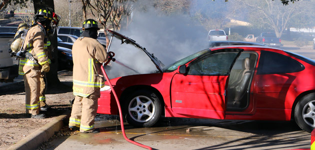 car fire feature