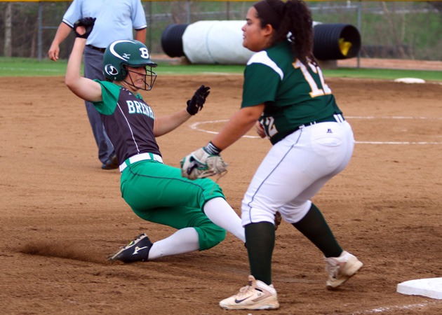 Shae Harris slides into third with a first-inning triple. (Mark Whitehead)