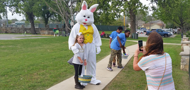 Easter egg hunt feature