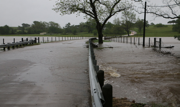 Flooding Woodward Creek at Old Chappell Hill Rd