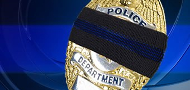 Police death badge feature