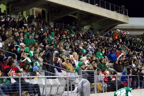 A huge crown filled The Berry Center for Friday night's game. (Courtesy: Don Schlottmann)