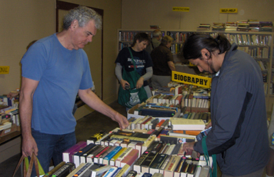 The Brenham Fortnightly Club uses their annual Book Sale to raise funds to keep the shelves oF The Nancy Carol Roberts Library stocked with books, tapes and recordings.