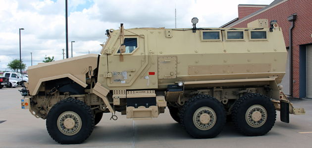 This Mine Resistant Ambush Vehicle has been delivered to the Brenham Police Department.