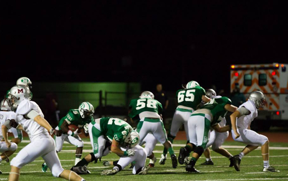 The Cubs' offensive line dominated the Bulldogs. (Courtesy: Don Schlottmann)