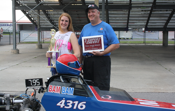 Brenham drag racer Breanna Maitland and her dad Jeff after a successful weekend at Baytown,, (Courtesy: Marla Maitland)