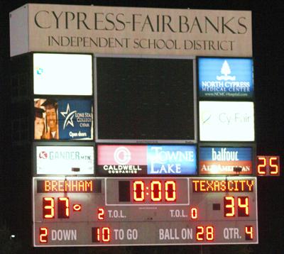 Scoreboard!!! (Courtesy: Dr. Robert Stark)