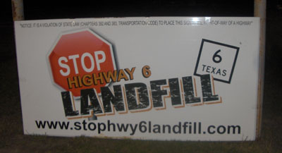 Photo of SETTLEMENT DEAL ON WALLER COUNTY LANDFILL NEAR COMPLETION