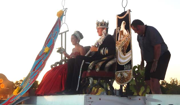 The reigning Senior Maifest Queen and King.