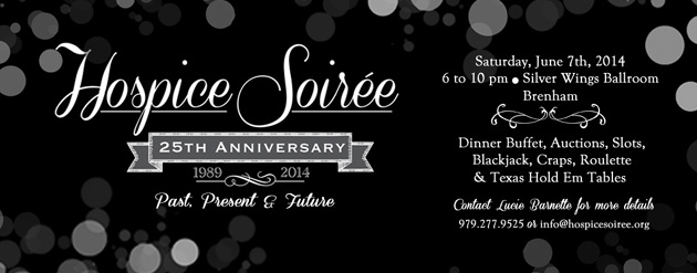 The Hospice Soiree is in June this year.  It's an evening of fun for a worthy cause.