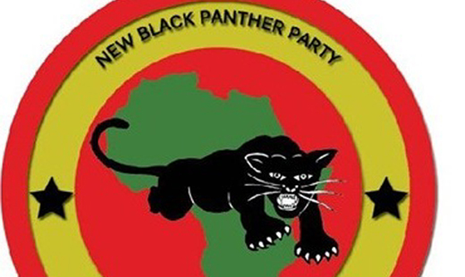 A contingent of the New Black Panthers protested in Hearne Thursday.
