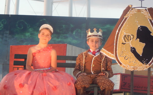Junior Queen Piper Puckett and Junior King Jackson Edward Van Dyke reigned over the Court of Maifest Mysteries.