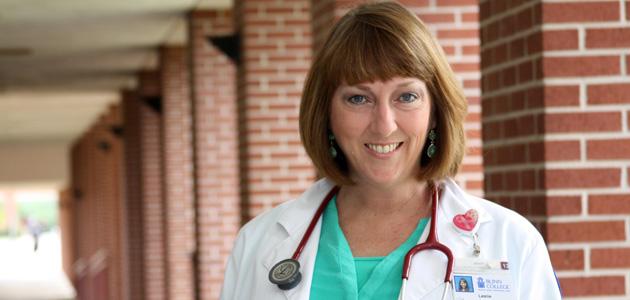 Photo of BLINN NURSING STUDENT CROSSES STAGE AFTER BATTLING BREAST CANCER