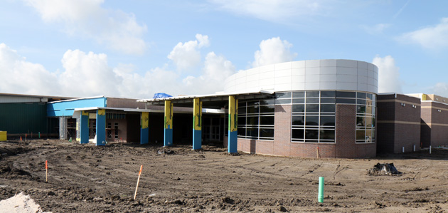 The Brenham Middle School underwent a $12 million renovation and should be ready fo rthe first day of school in August.
