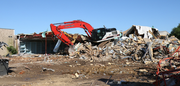 This demolition work should be cleaered by the end of the week.